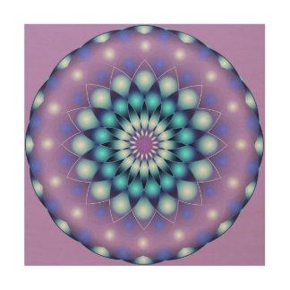 Wood Canvas Mandala