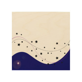 Wood canvas with heaven Stars