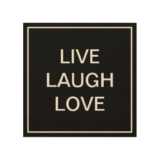 Wood canvas with inspirational quote | Live laugh