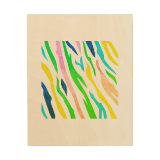 Wood canvas with Zebra stripes