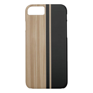 Wood & Carbon Fiber iPhone 7 case