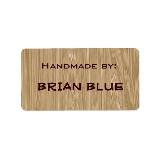 Wood / Carpenter hand made labels