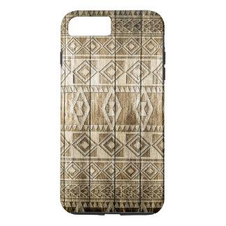 Wood Carving (Aztec Pattern) iPhone 7 Plus Case