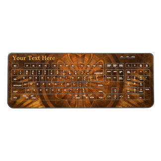 Wood Carving Fractal Wireless Keyboard
