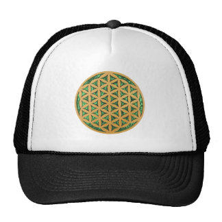 Wood Carving of Flower of Life Cap