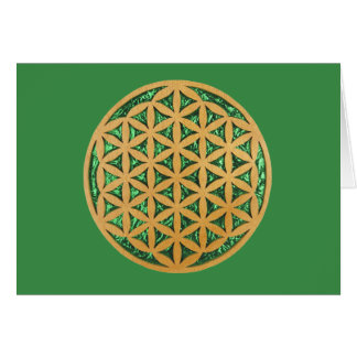 Wood Carving of Flower of Life Card