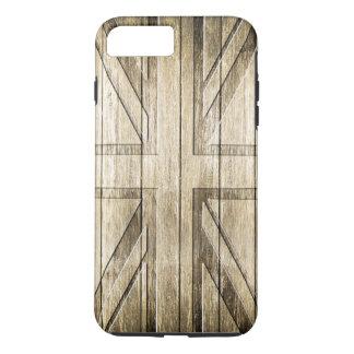 Wood Carving (Union Jack Flag) iPhone 7 Plus Case