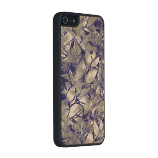 Wood Case iPhone 5/5s Grunge Art Silver Floral Carved® Maple iPhone 5 Case