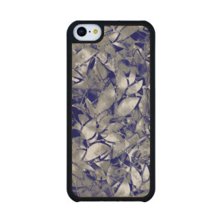 Wood Case iPhone 5C Grunge Art Silver Floral Carved® Maple iPhone 5C Case