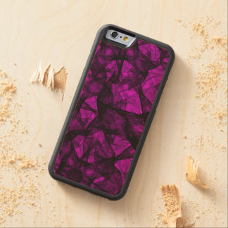 Wood Case iPhone 6 Fractal Art