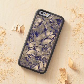Wood Case iPhone 6 Grunge Art Silver Floral Maple iPhone 6 Bumper Case