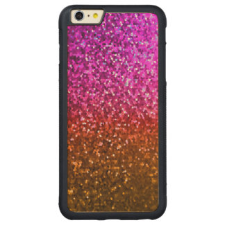 Wood Case iPhone 6 Plus Mosaic Sparkley Texture