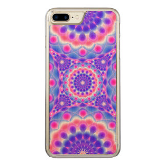 Wood Case iPhone 7Plus Mandala Psychedelic Visions