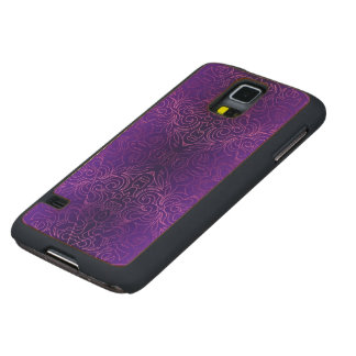 Wood Case Samsung G S5 Floral Abstract Damasks