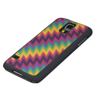 Wood Case Samsung G S5 Zig Zag Chevron Pattern