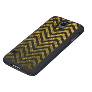 Wood Case Samsung G S5 Zig Zag Sparkley Texture