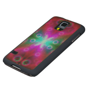 Wood Case Samsung Galaxy S5 Bubbles Bokeh Effect