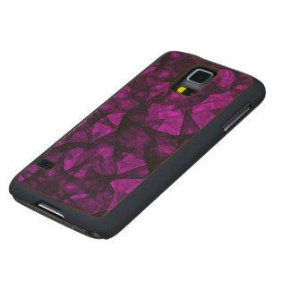 Wood Case Samsung Galaxy S5 Fractal Art
