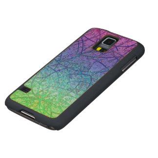 Wood Case Samsung Galaxy S5 Grunge Art Abstract
