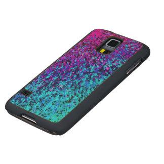 Wood Case Samsung Galaxy S5 Informel Art Abstract