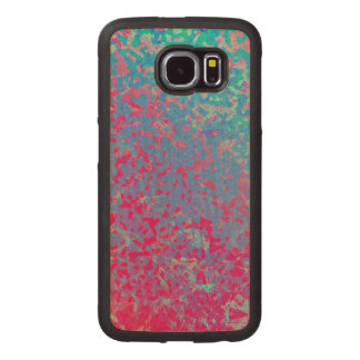 Wood Case Samsung Galaxy S6 Colorful Corroded