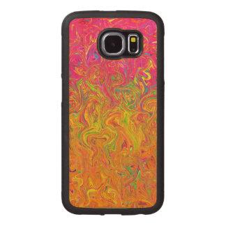 Wood Case Samsung Galaxy S6 Fluid Colors