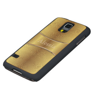 Wood Case Samsung GalaxyS5 Floral Abstract Damasks