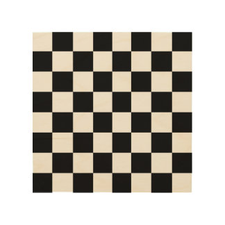 """Wood Chess or Checker Board 8"""" by 8"""" Wood Print"""