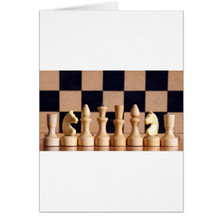 Wood Chess Pieces Greeting Card