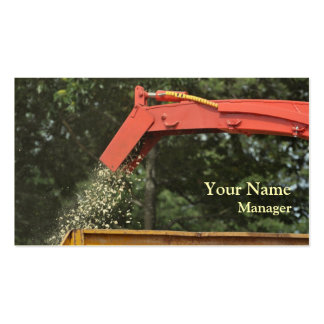 Wood chipper business card