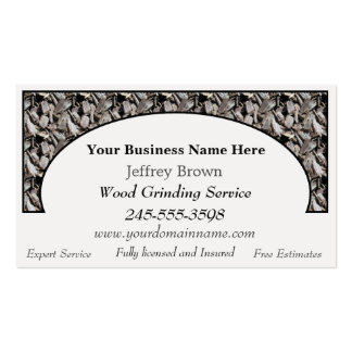 Wood Chips Business Cards