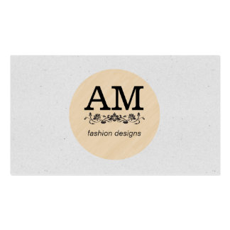 Wood (circle) // Speckled Texture (print) Pack Of Standard Business Cards