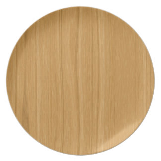 Wood clear brown plate