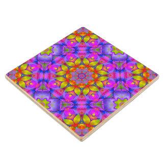 Wood Coaster Floral Fractal Art G445