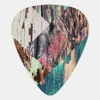 Wood Collage Guitar Picks