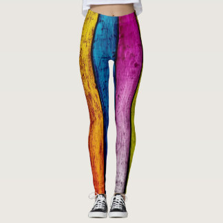 wood color leggings