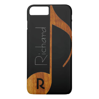 wood-color music note with name iPhone 7 plus case