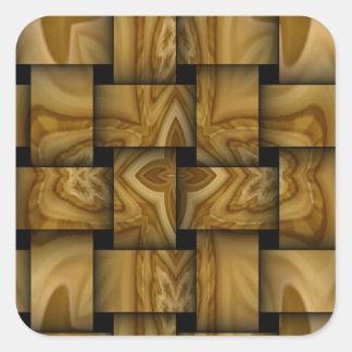 Wood cross weave pattern stickers