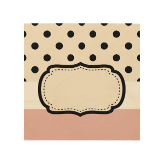 Wood decor with Black dots