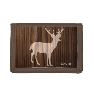 Wood Deer Custom Wallet
