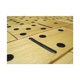 Wood Domino Print on Stretched Canvas