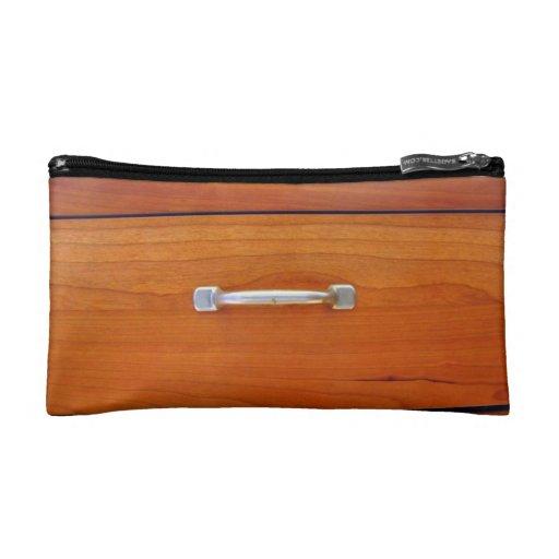 Wood Drawer Handle Makeup Bag