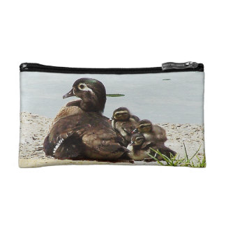 Wood Duck Birds Family Wildlife Animals Pond Bag Makeup Bag