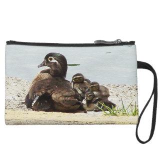 Wood Duck Birds Family Wildlife Animals Pond Bag Wristlets