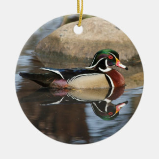 Wood Duck Christmas Ornament