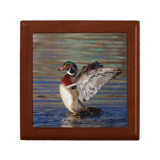 Wood Duck Small Square Gift Box