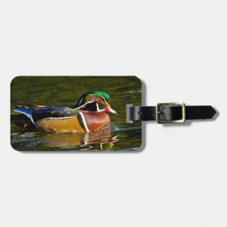 Wood Duck swimming, Crystal Springs Rhododendron Luggage Tag