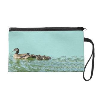 Wood Ducklings Ducks Birds Wildlife Animals Bag Wristlet Clutches