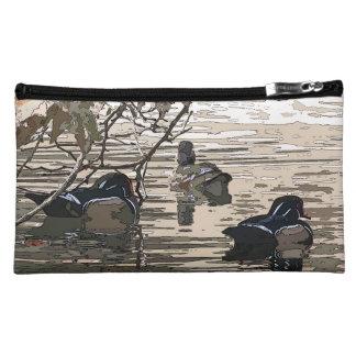 Wood Ducks Birds Art Wildlife Animals Bag Makeup Bag