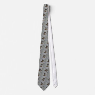 Wood Ducks Gray Tie